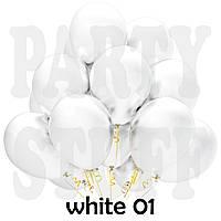 Надувные шары Gemar G90 пастель белый 10' (25 см) 100 шт