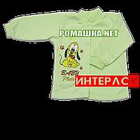 Детская кофточка р. 68  демисезонная ткань ИНТЕРЛОК 100% хлопок ТМ Алекс 3173 Зеленый1