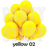 Воздушные шарики Gemar G90 пастель желтый 10' (26 см) 100 шт