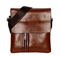 Мужская стильная сумка рыже-коричневого цвета (54143)