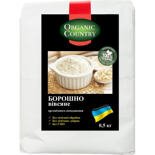 Мука ржаная  мелкого помола органическая  ORGANIC COUNTRY, 1 кг