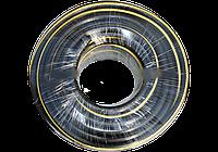 Шланг поливочный армированный черный, желтый  WAZ 1дюйм 50м ( Польша )