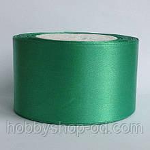 Стрічка атласна 5 см зелена м'ятна