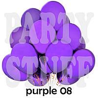Воздушные шарики Gemar G90 пастель фиолетовый 10' (26 см) 100 шт
