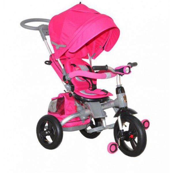 """Трехколёсный велосипед T-500""""AL""""transformer надувные розовый"""