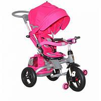 """Трехколёсный велосипед T-500""""AL""""transformer надувные розовый, фото 1"""