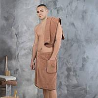 Набор для сауны Elite мужская юбка и полотенце, фото 1