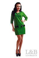 """Трикотажное платье """"LANVIN"""" зеленый"""