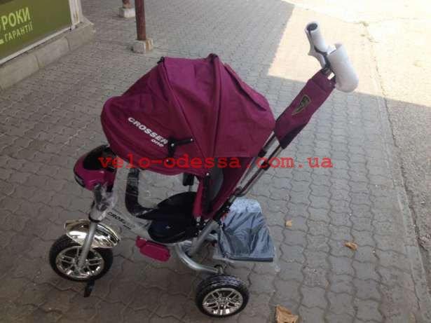Трехколёсный велосипед Азимут Т-1  Сrosser с фарой EVA (2шт/ящ)