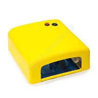 УФ лампа для сушки геля, гель-лака на 36 Вт W-818, желтая, фото 1