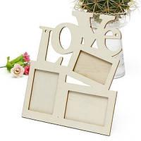 Деревянная рамка для фото «Love»