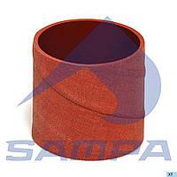 1377572 патрубок турбонагнетателя (76х75) красный