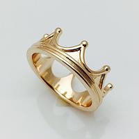 Кольцо корона чистая, размер 16, 17, 18, 19