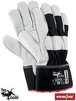 Перчатки защитные, укрепленные воловьей кожей перчатки (кожаные рабочие REIS Польша) RHIPPER BW