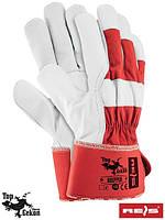 Перчатки защитные, укрепленные воловьей кожей перчатки (кожаные рабочие REIS Польша) RHIPPER CW