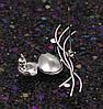 Брошь Изящная с Swarovski Crystal, родированная, фото 7