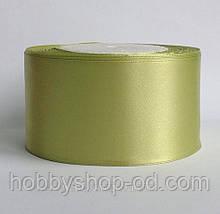 Стрічка атласна 5 см світло-оливковий