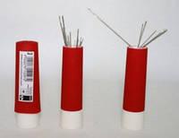 Вращающаяся игольница-«твистер», с магнитом, без содержимого,красная