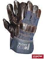 Защитные перчатки усиленные яловой кожей перчатки (кожаные рабочие REIS Польша) RLCMN NCK