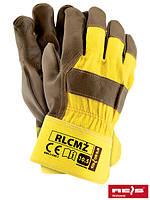 Защитные перчатки усиленные высококачественной свиной кожей перчатки (кожаные рабочие REIS Польша) RLCMŻ YCK