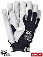 Защитные перчатки, изготовленные из высококачественной козлины  (кожаные рабочие REIS Польша) RLEVEREST GW