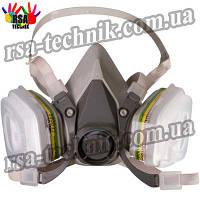 Полумаска респиратор 3M серии ЗМ6200, 6200М+А16051+зм501+3m5911 (комплект)