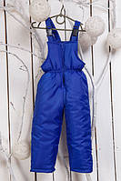 Зимний полукомбинезон детский с прямыми штанами (Синий)