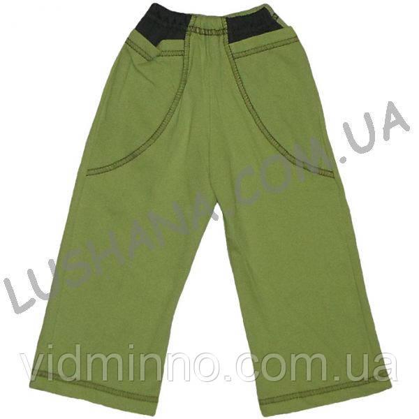 Однотонные штаны с карманами на рост 80-86 см - Начёс