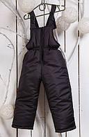 Зимний полукомбинезон детский с прямыми штанами (Черный)