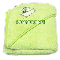 Детское махровое (очень длинная петля) уголок-полотенце после купания 95х95 см ТМ Ярослав 3073 Оливковый
