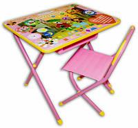 Набор детской трансформируемой мебели Дэми №3    Чебурашка/розовый
