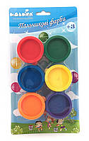 Набор для рисования: Краски пальчиковые 6 цветов по 30 мл.