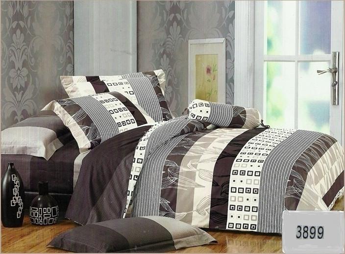 Сатиновое постельное белье евро ELWAY 3899