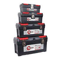 Комплект ящиков для инструментов с металлическим замком 4шт(ВХ-1013-1016-1019-1024) INTERTOOL BX-0004