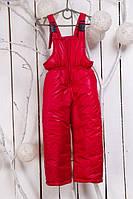 Зимний полукомбинезон детский с прямыми штанами (Красный)