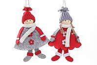 Новогоднее украшение Куколки 16см