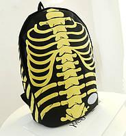 """Крутой рюкзак """"Скелет с костями"""". Оригинальный дизайн. Стильная вещь. Купить недорого. Код: КГ64"""