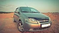 Дефлектор капота (мухобойка) Chevrolet Aveo с 2003-2006(седан) с 2003-2008 (х/б) г.в. (Шевроле Авео) Vip Tuning
