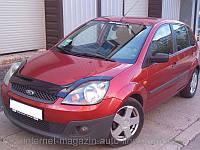 Дефлектор капота (мухобойка) FORD Fiesta с 2002-2008 г.в.(короткий) (Форд Фиеста) Vip Tuning