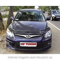 Дефлектор капота (мухобойка) HYUNDAI i30 с 2008-2012 г.в. (Хундай и30) Vip Tuning