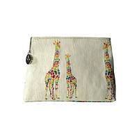"""Сумочка гобеленовая """"Разноцветные жирафы"""""""