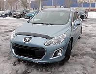 Дефлектор капота (мухобойка) Peugeot 308 2007- (Пежо 308) SIM