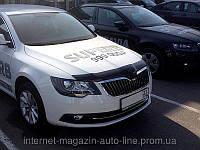 Дефлектор капота (мухобойка) Skoda Superb 2014- (Шкода Суперб) SIM