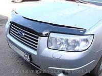Дефлектор капота (мухобойка) Subaru Forester 2006-2007 (Субару Форестер) SIM