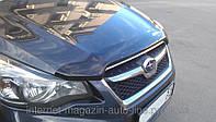 Дефлектор капота (мухобойка) Subaru Impreza 2011-/ XV 2012-, темный (Субару Импреза) SIM