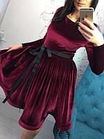 Шикарное пышное бархатное платье МИЛЕНА  (4 цвета)