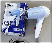 Фен Klaime KLM 1805, ручка складывается, решение для дома, спортзала, помощник в дороге