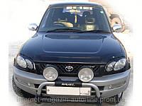 Дефлектор капота (мухобойка) TOYOTA RAV-4 1996-2000 SXV10 темный (Тойота Рав4) SIM