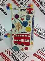 Оригинальный чехол панель накладка для Iphone 4 / 4S с картинкой Лондон