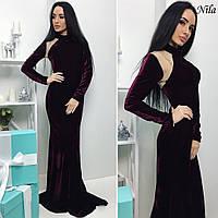Длинное женское платье со шлейфом у-54032420